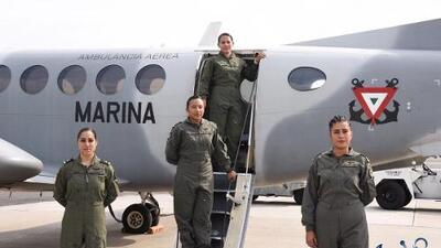 Ellas son las mexicanas que integran la primera tripulación aérea para emergencias conformada solo por mujeres