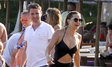 Kate Hudson pasea con su ex Matt Bellamy y su nueva novia