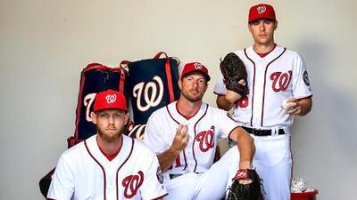 Los Nationals tienen a tres pitchers con más de 200 strikeouts