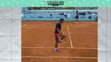 Qué clase: Rafa Nadal la rompe haciendo dominadas con una pelota de tenis