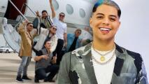 Eduin Caz, de Grupo Firme, estrena avión y lo presenta a sus seguidores
