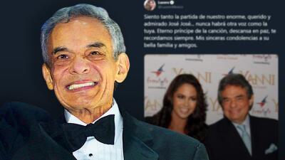 """""""Este es un día muy triste"""": los artistas lamentan la muerte de José José"""