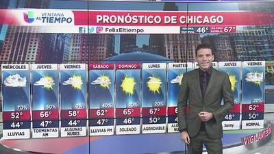 ¡Chicago continuará fría! Cielos nublados y lluvias para la tarde de este martes
