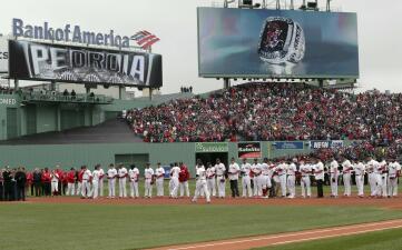 Pura fiesta de Boston Red Sox: la ceremonia del anillo como campeón de Serie Mundial