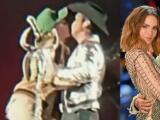 Belinda emociona a Christian Nodal (y a sus fans) al subir al escenario para darle un romántico beso