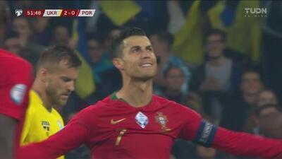Cristiano intentando por todos los medios descontar el marcador