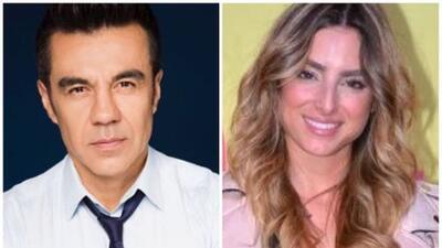 Adrián Uribe le roba un beso a Estefanía Ahumada