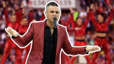 Esta es la extraña (e irónica) explicación que Robbie Williams da de su gesto grosero en el Mundial