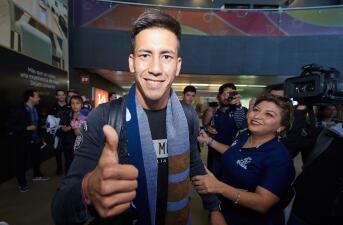En fotos: la confianza de Maxi Meza a su llegada como nuevo refuerzo de Monterrey