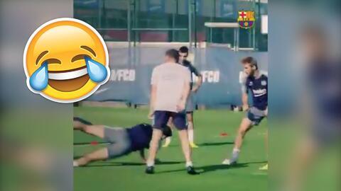 El Barcelona da risa: sensacional recopilación con lo más divertido del equipo en el 2018