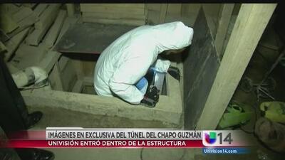 El túnel por el que salió El Chapo