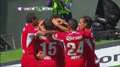 Toluca vs. León: Gol de penal de Velázquez para Toluca