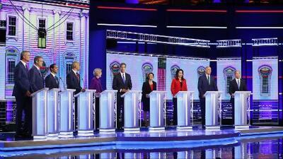 Candidatos demócratas usan el español en el debate para apelar a los latinos de cara a las elecciones