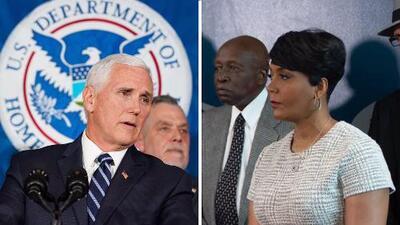 Vicepresidente Pence 'choca' con alcaldesa de Atlanta por inmigrantes