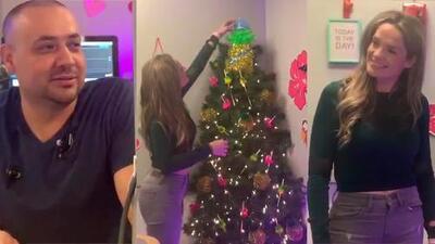 La Chula y La Bestia hacen raras confesiones mientras decoran el árbol del show