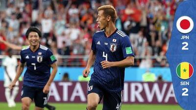Honda rescata el empate para Japón ante Senegal y el Grupo H sigue abierto