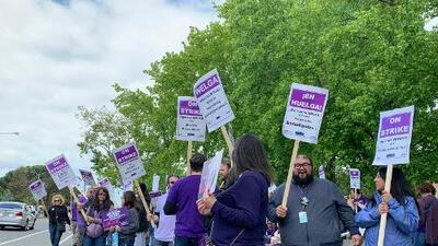 Cientos de maestros de Union City y Hayward comienzan una huelga indefinida