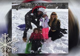 ¡Mariah pasó una helada y amorosa Navidad!