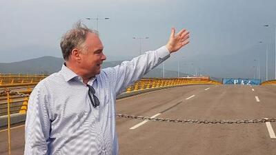 """""""La emergencia es grave"""": senador Tim Kaine en su visita a la frontera de Colombia y Venezuela"""