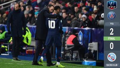 Triunfo copero del PSG activa las alarmas con Neymar