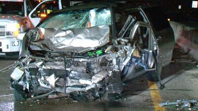 En fotos: choque frontal de conductor que manejaba en contravía deja un muerto y tres heridos