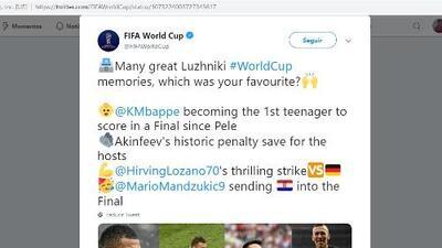 Lozano venció a Mbappé por mejor desempeño en Luzhniki en Rusia