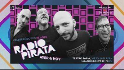 Radio Pirata celebra 25 años de trayectoria con un concierto en el Viejo San Juan