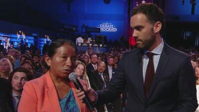 La historia de Lucía Quiej, la migrante del debate demócrata