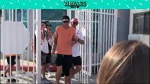 ¡Se pasó de tequilas! Captan a Brady tambaleándose tras festejos