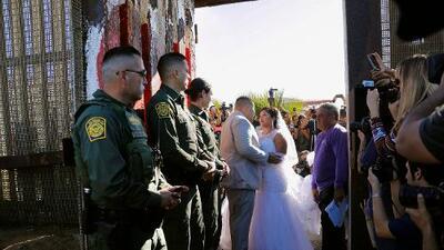 Un narco se casó frente a la Patrulla Fronteriza y ahora se cancelan los eventos en el muro