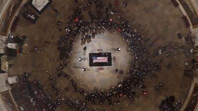 En un minuto: Funeral de estado con la asistencia de Trump para despedir al expresidente Bush