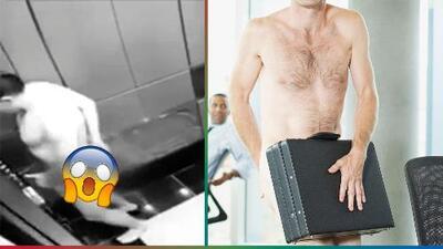 (Video) Hombre desnudo quedó atrapado afuera de su habitación en un hotel