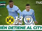 Manchester City se mete a Semifinales al derrotar 1-2 al Dortmund
