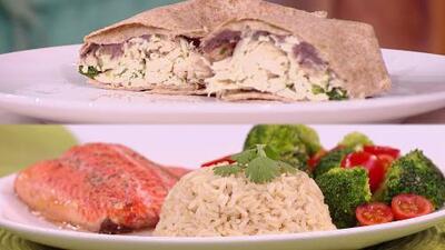 Ricas, nutritivas y sin azúcar: recetas de burrito de espinacas y salmón con arroz integral para la dieta