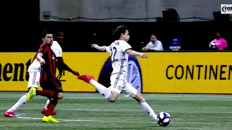 Brenden Aaronson vence al portero desde fuera del área y Philadelphia ya gana 1-0 en Atlanta