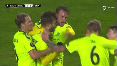 ¡GOOOL! Patrick Mortensen anota para Sarpsborg 08