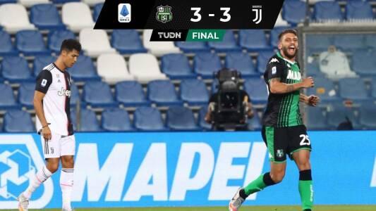 La Juve se estanca ante Sassuolo y suma tres partidos sin ganar