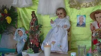 Aseguran que esta figura del Niño Jesús derrama lágrimas de sangre