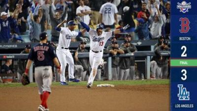 Los Dodgers ganan el juego más largo de la historia de la Serie Mundial (Serie 2-1)