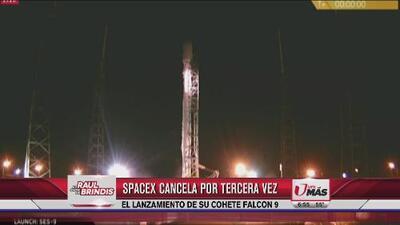 SpaceX cancela por tercera vez lanzamiento de cohete