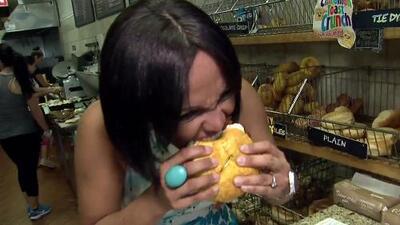 Birmania Ríos probó los 'bagels' más locos de Nueva Jersey