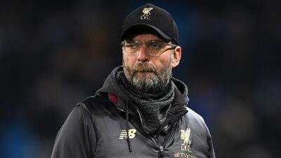 Jürgen Klopp, resignado al perder 2-1 ante el Manchester City