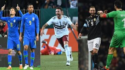 Las selecciones de América dominaron a los europeos en fecha FIFA