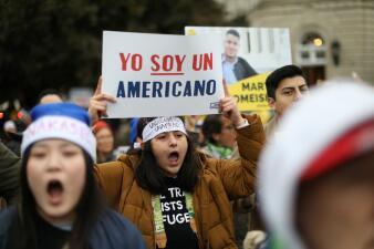 """""""Esta es mi casa"""": los mensajes para defender a DACA frente a la Corte Suprema (fotos)"""
