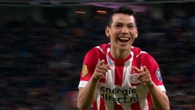 Así fue el gran gol del 'Chucky' Lozano ante el Ajax en clásico del fútbol holandés