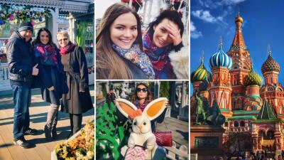 Irina Baeva viajó a Rusia para visitar a su familia