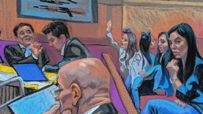 Sorpresa en el juicio: 'El Chapo' Guzmán se emociona al ver a sus hijas gemelas en la corte