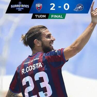 Ramiro Costa marca doblete para el 2-0 del Atlante ante Celaya