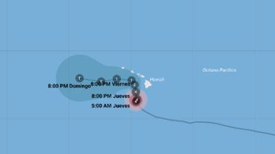 El poderoso huracán Lane se acerca a Hawaii