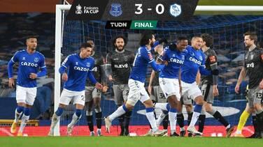 Everton goleó al Sheffield Wednesday y avanzó en la FA Cup
